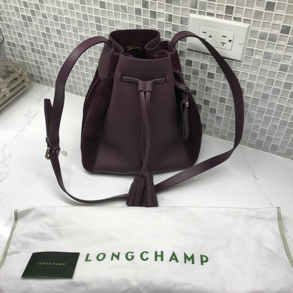 Longchamp Bags Penelope Leather Bucket Bag Poshmark